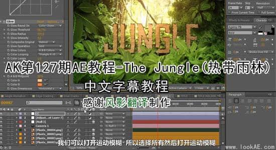 更新:AK第127期AE教程-The Jungle热带雨林【中文字幕】插图