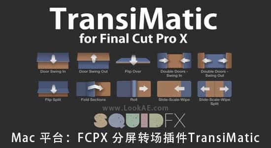 Mac 平台:FCPX 分屏转场插件 TransiMatic