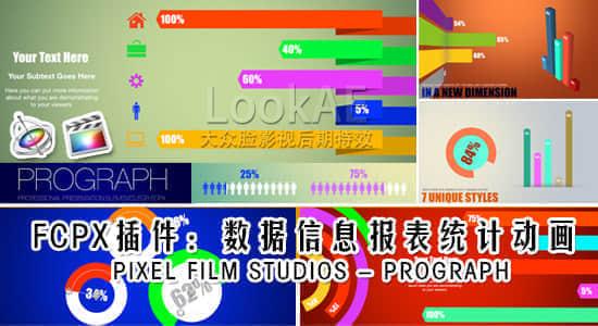 FCPX插件:数据信息报表统计动画 PIXEL FILM STUDIOS – PROGRAPH