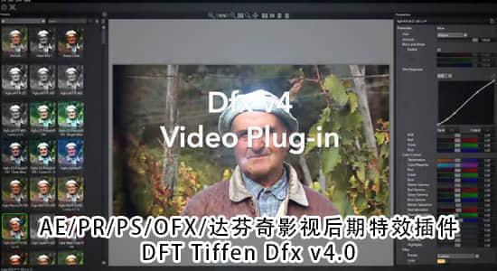 Mac/Win版:AE/PR/PS/OFX/达芬奇影视后期特效插件 DFT Tiffen Dfx 4.0v2