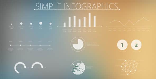 AE模板 IOS风 简单的和现代信息图数据分析图表