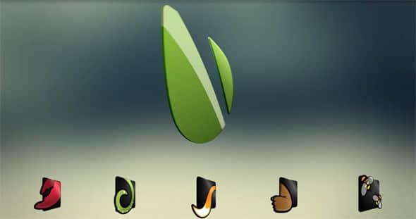 Logo 3D Rotation