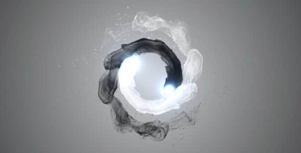 AE模版:中国风黑白水墨粒子LOGO展示Videohive Orb YinYang Logo Reveal