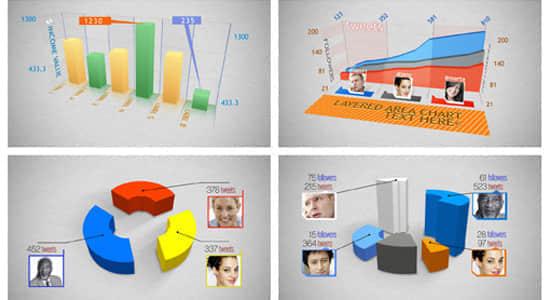 AE模版:三维信息数据报表图 VideoHive 3D CHARTS