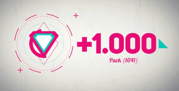 AE模版:1000+组基础MG动画图形元素包 Basic Shape Animation Pack