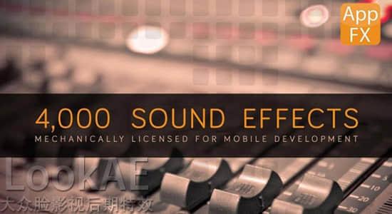 音效:4000组手机APP应用程序特效音 App FX Sound Effects Library