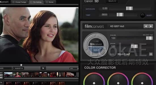 AE/PR数字转胶片调色插件 FilmConvert Pro 2.31+全摄像机预设包(Win64)