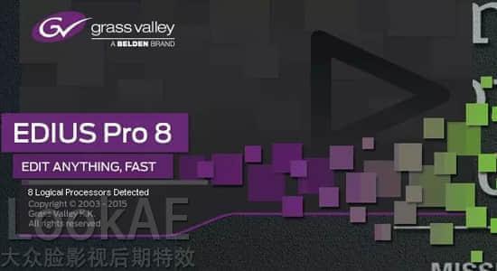 专业非线性视频编辑剪辑软件 Grass Valley EDIUS Pro 8.53.2808 中文版