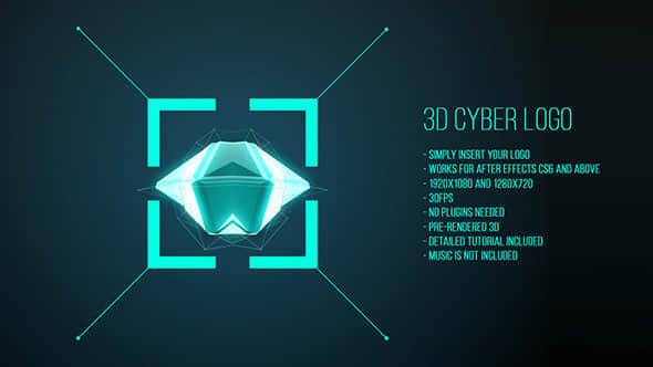 3D Cyber Logo