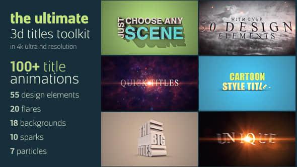 3D Titles Toolkit
