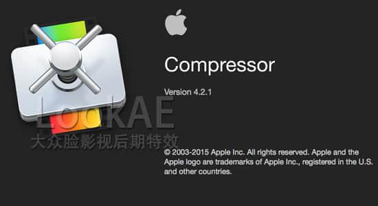 更新:苹果视频压缩编码输出软件 Compressor 4.2.1(多国语言-含中文)