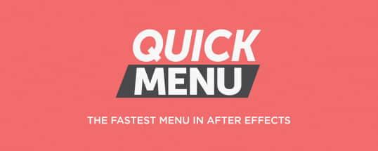 AE脚本:特效预设快速检索查找工具 Aescripts Quick Menu v1.2.1