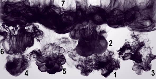 视频素材:7组中国风水墨滴落视频素材 Ink PACK