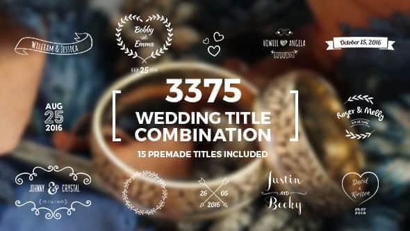 Elegant Wedding Title