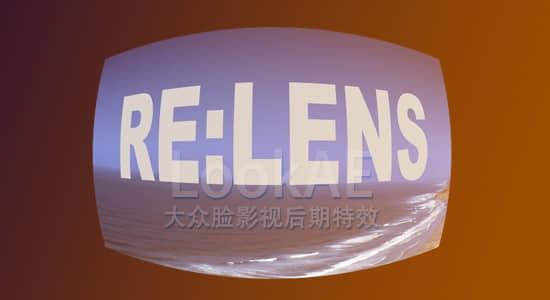 AE/Pr插件:鱼眼广角镜头畸变扭曲修复转换插件 REVisionFX RE-Lens v1.1.2 CE