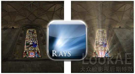 Ae/Pr/PS/达芬奇/Vegas/Nuke/OFX 射线体积光插件 Digital Film Tools Rays v2.0v9