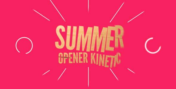 Summer Opener Kinetic