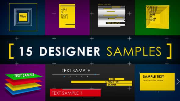 15 Designer Samples