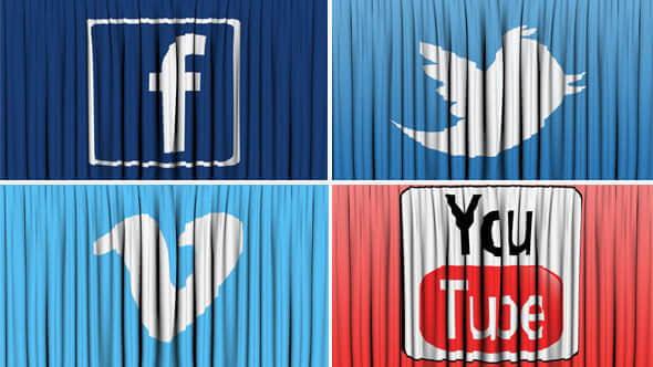 social-network-curtain-open