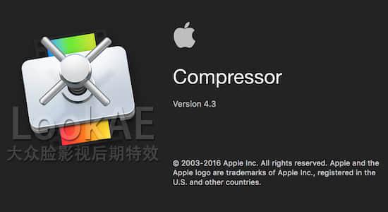 苹果视频压缩编码输出软件 Compressor 4.3.1(英/中文版)免费下载