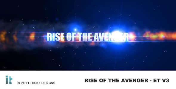 AE模板:多彩烟雾光效文字标题展示 Rise of the avenger – Epic trailer v3