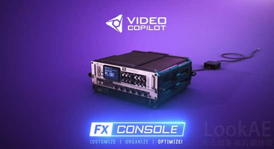 Win/Mac版:AK新出品AE插件:特效管理控制工具  VideoCopilot – FXConsole +使用教程