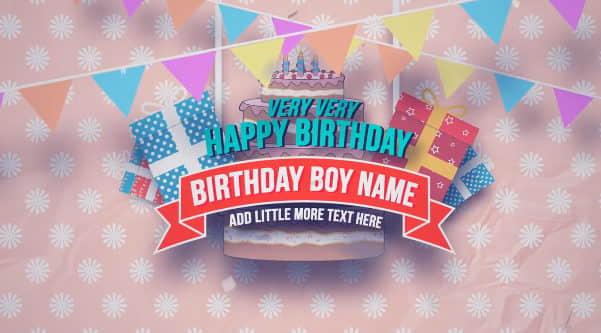 AE模板:卡通可爱儿童生日快乐活动包装效果  Happy Birthday Slideshow