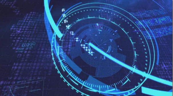 AE模板:高科技HUD界面图文展示动画片头 Hi-Tech Logo Opener