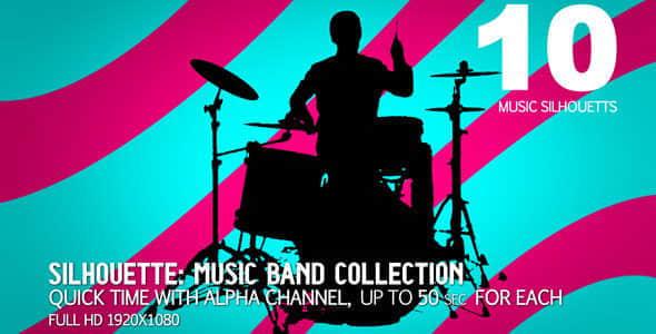 视频素材:乐队舞者人物剪影动画包 Music Band Collection 10