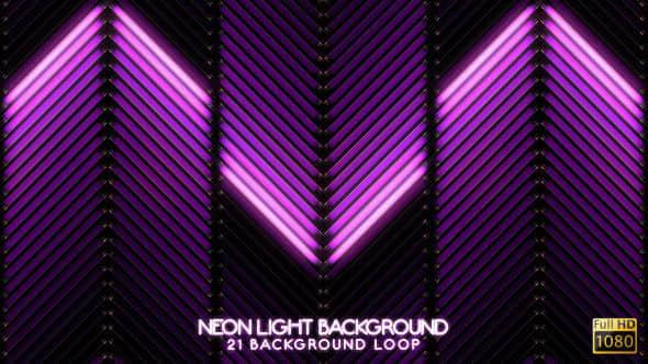 VJ视频素材:21组霓虹炫酷视频背景VJ动画 Neon Light VJ Backgrounds