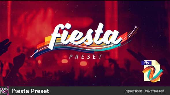 AE预设:快速路径遮罩描边动画 Fiesta Preset