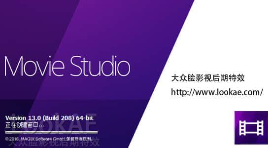 视频编辑剪辑软件普通版 VEGAS Movie Studio 13.0.208 英/中文破解版
