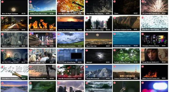 72G视频素材:2016年Videoblocks高清特效实拍视频素材 424组