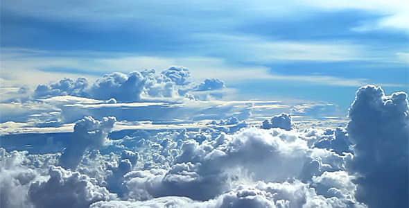 视频素材:高空实拍蓝天白云动画素材 Flying Above the Clouds 3