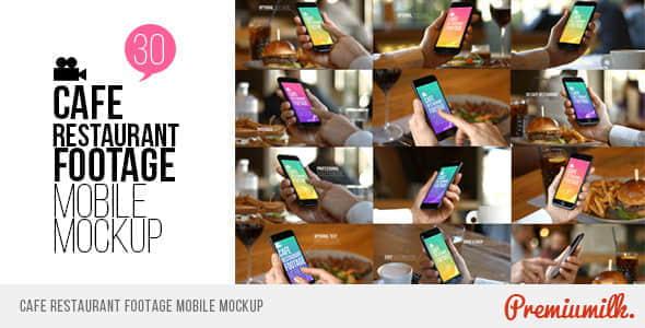 AE模板:餐厅咖啡馆实拍手机特效跟踪画面手势展示