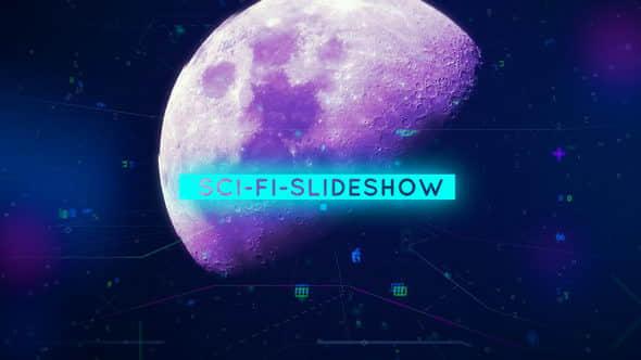 AE模板:高科技画面信号干扰图文展示 Sci-Fi-Slideshow