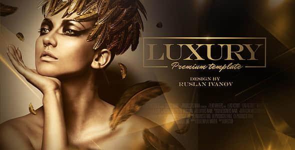 AE模板:大气金色华丽活动年会颁奖典礼栏目包装 Luxury Awards Package