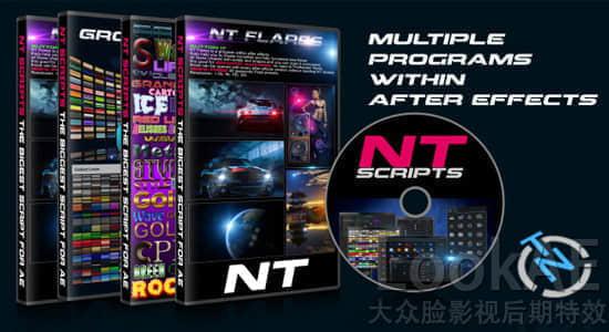 AE脚本:多功能实用特效工具合集脚本 NT Scripts Win/Mac + 使用教程