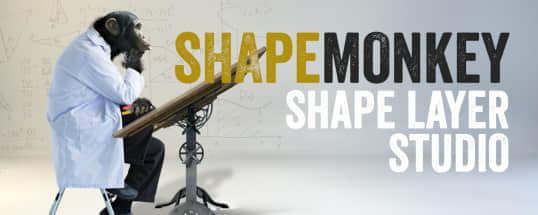 AE脚本:MG图形变化动画 Aescripts ShapeMonkey 1.01 + 视频教程