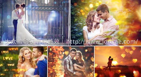 视频素材:40个浪漫唯美爱恋光斑炫光叠加特效视频动画