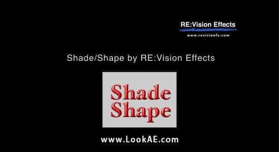 Ae/Pr 形状阴影效果插件 RevisionFX ShadeShape 4.2.3 Win/Mac