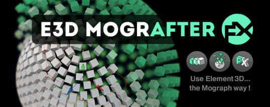 AE脚本:E3D三维物体标题克隆破碎特效 AEscripts E3D Mografter FX 1.1 + 使用教程
