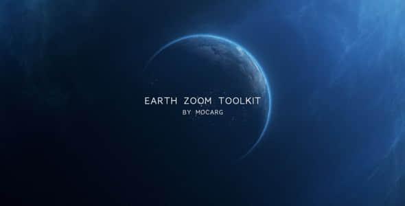 AE模板:地球缩放冲击定点展示工具 Earth Zoom Toolkit(含脚本)