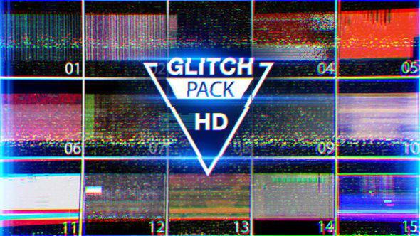 视频素材:15组信号干扰画面破损特效素材  VHS Noise & Damage