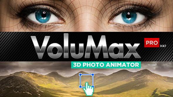 AE模版:风景人像图片转3D空间摄像机动画 VoluMax – 3D Photo Animator V4.1