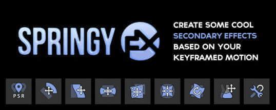 AE脚本:MG卡通弹跳动画制作工具 AEscripts SpringyFX v1.0.0 + 使用教程