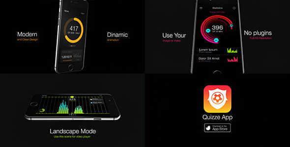 AE模板:手机APP界面三维展示宣传动画 iPromo – App Presentation