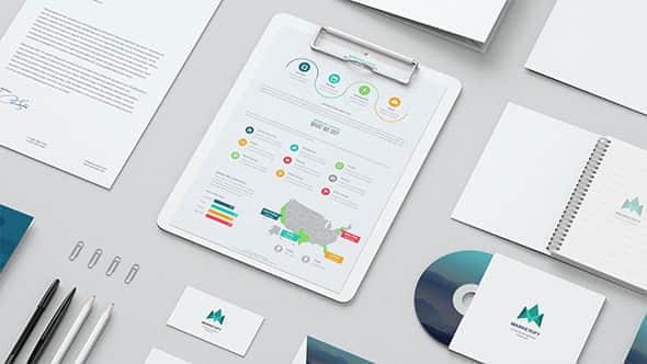 AE模板:公司企业VI视觉设计包装宣传动画 Mock-up Video Presentation