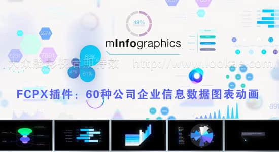 FCPX插件:60种公司企业信息数据图表动画 mInfographics + 使用教程