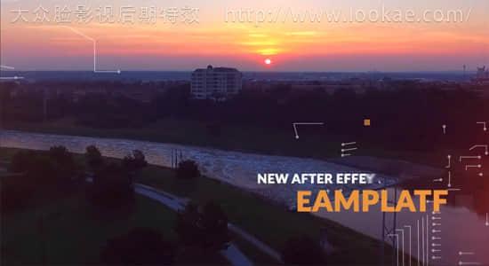AE模板:动感科技风幻灯片切换效果展示 Urban Dynamic Slideshow